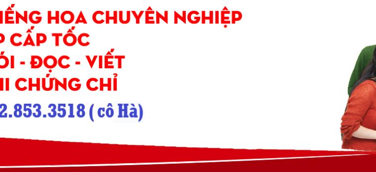 DẠY TIẾNG HOA TẠI TPHCM.