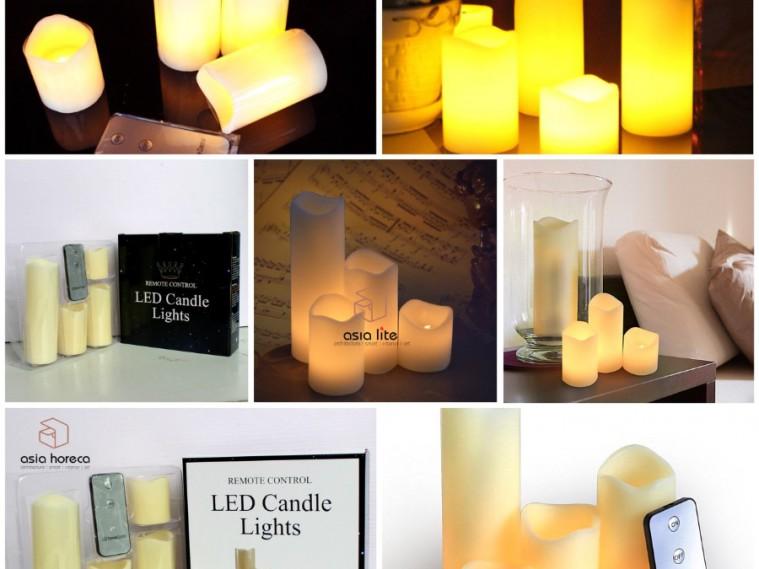 """Nến Led điện tử """"điều khiển từ xa""""– Led wax candles with remote – Asia Horeca"""
