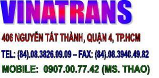 VINATRANS TPHCM – vận chuyển, cước tàu hàng xuất khẩu, nhập khẩu