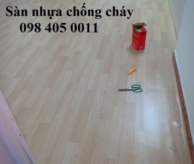 Sàn nhựa vân gỗ JY 001 văn phòng hàng chống cháy 098 405 0011