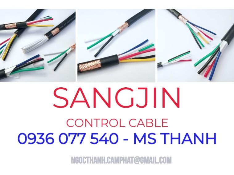Dây cáp điện điều khiển Sangjin, cáp điều khiển nhập khẩu, phân phối giá sỉ, hàng sẵn kho HCM