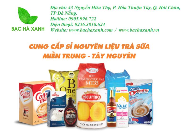 Bạc Hà Xanh phân phối sỉ nguyên liệu trà sữa lớn nhất miền Trung