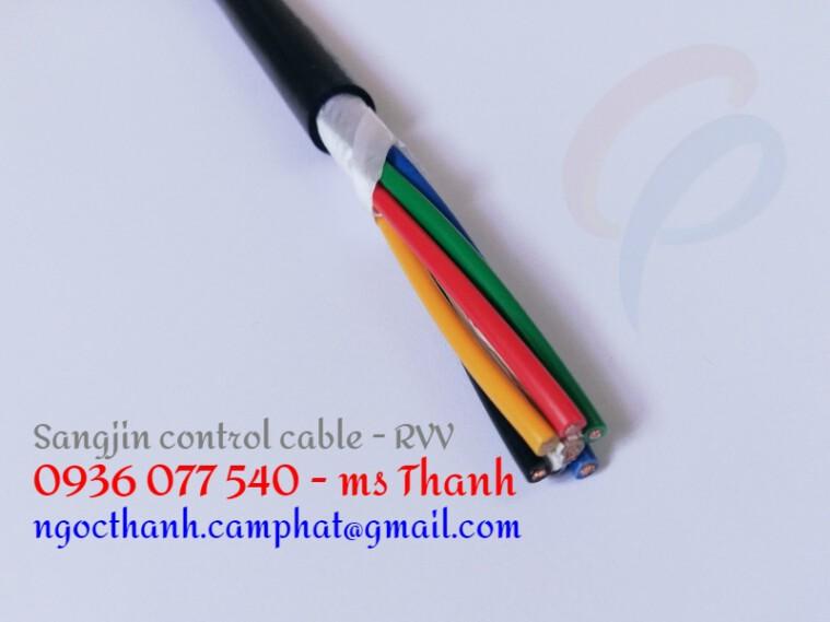 Cáp điều khiển Sangjin 6C x 0.5 SQMM không chống nhiễu CU/PVC/PVC