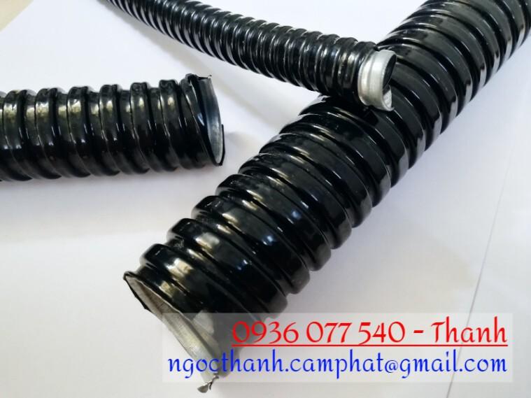 Ống ruột gà D25, ống ruột gà lõi thép bọc nhựa, ống kẽm đàn hồi bọc nhựa 3/4 inch