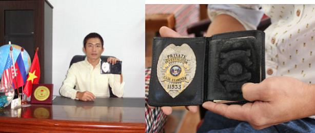 Thám tử Sài Gòn Lương Gia uy tín, chuyên nghiệp – Huy hiệu thám tử tư: PI – 11533 cấp tại Mỹ.