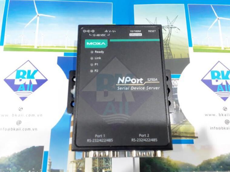 NPort 5250A: Bộ chuyển đổi tín hiệu 02 cổng RS-232/422/485 sang Ethernet