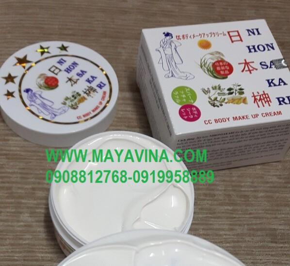 Kem  BODY NIHONSAKARI  Dưỡng Trắng Che Khuyết Điểm Body CC Cream Spa Natural