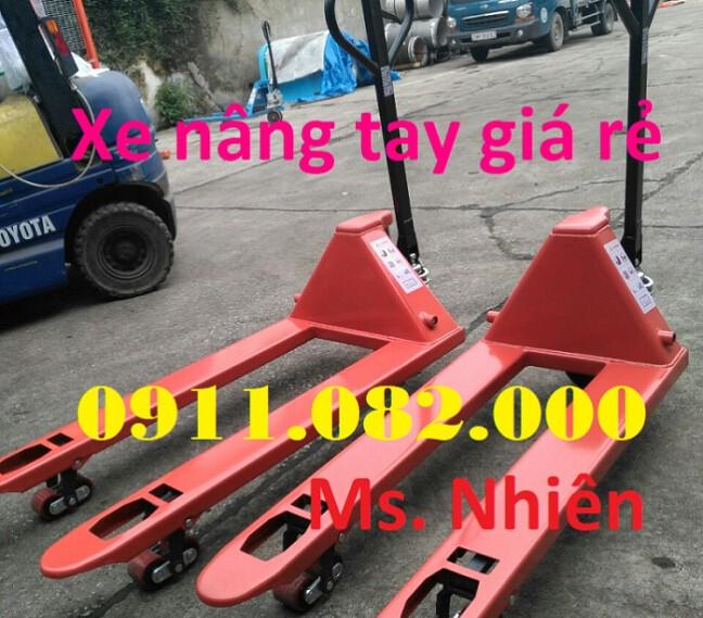 Nơi bán xe nâng tay thấp giá rẻ tại Hậu giang- xe nâng tay 3 tấn- lh 0911.082.000