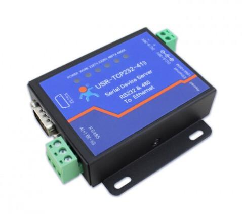 USR-TCP232-419: Bộ chuyển đổi RS232/RS485 sang Ethernet, hỗ trợ DTR/DSR flow control