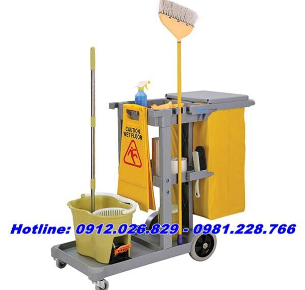 Bán xe để dụng cụ vệ sinh tiện dụng giá rẻ nhất thị trường