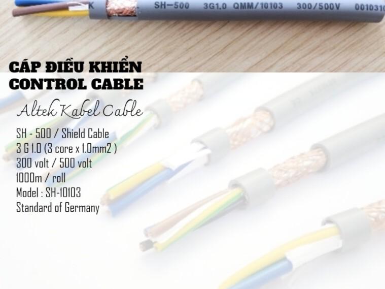 Cáp điều khiển SH-500 (10103) Altek Kabel