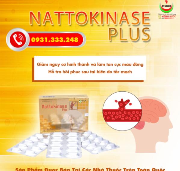 Nattokinase Plus – Phòng ngừa tai biến, đột quỵ